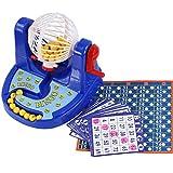 Sanzhileg Divertente Classico Mini Bingo Gioco Bingo Card Ball Desktop Gioco Chip Machine Set di Gioco per Bambini Bambini Divertente Giocattolo