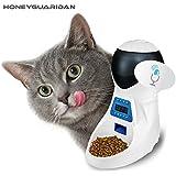 HoneyGuaridan A25 Comedero Electrónico Automático con Recordatorio por Voz y Temporizador Programable, 6-Comidas para Perros (Grande, Mediano y Pequeño) y Gatos