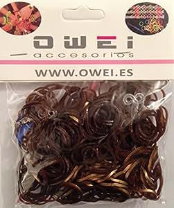 Loom Bandz - 200 Elastiques Chocolat Bronze pour bracelet Rainbow Loom + s attaches et 1 crochet