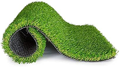 Furnishing Kingdom Sprayer Artificial Soft and Durable Plastic Grass for Door Matt, Balcony, Outdoor and Terrace Garden - Size : 14x22 - Green Color