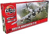Airfix - Kit de modelismo, avión Bristol Beaufighter MK.X Late (Hornby A05043)