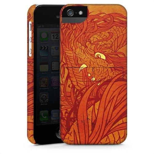 Apple iPhone 4 Housse Étui Silicone Coque Protection Motif Motif Orange CasStandup blanc
