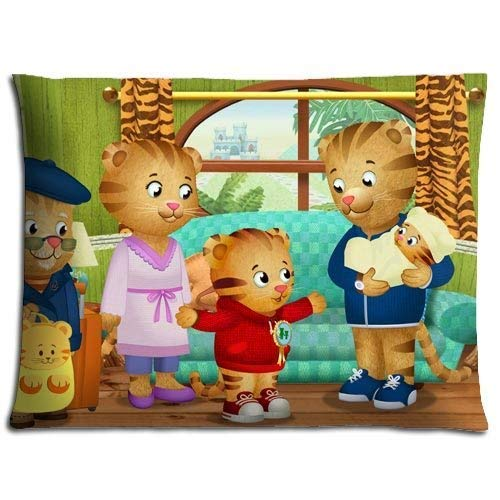 Dswesade2015 custom daniel tiger's neighborhood home decorative soft throw pillowcase cushion custom pillow case cover protecter with zipper standard size inches two sides printed20x30inch(50cmx75cm)