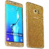 Heartly Sparking Bling Glitter Crystal Diamond Protective Film Whole Body Phone Skin Sticker For Samsung Galaxy S6 Edge+ Plus - Mobile Gold
