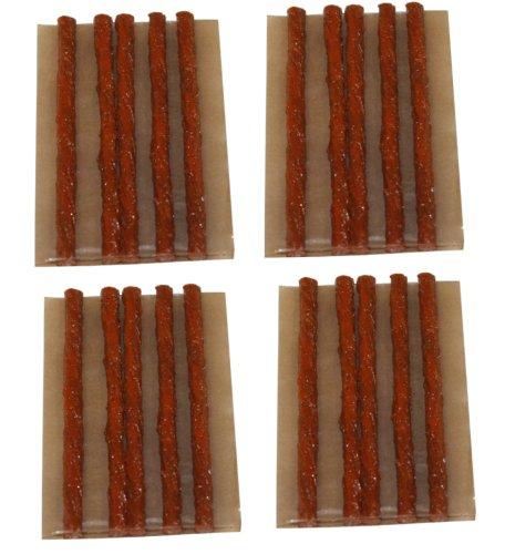 Aerzetix Pack mit 10cm langen Streifen, 20 Stück, Reparatur-Set für Auto- und Motorradreifen,C1648