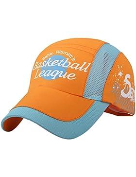 Feoya Sombrero Infantil Gorra de Béisbol Visera Ajustable UV Protección para Niños Niñas Estudiantes Verano Outdoor