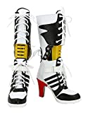 CROWN BEAUTY Damen Cosplay Schuhe Cosplay Kostüm Stiefel Boots Shoes (37)