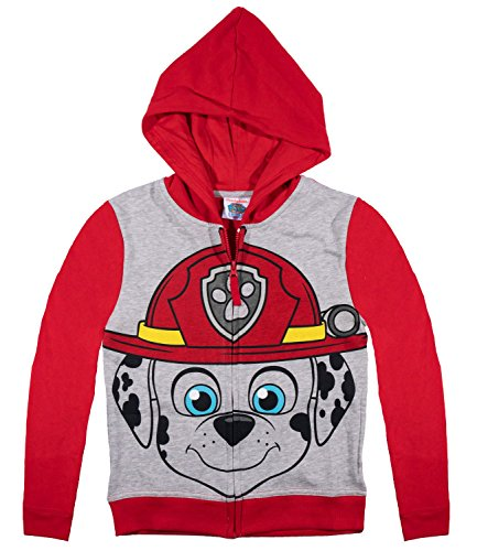 official-paw-patrol-boys-hoodie-hooded-top-jumper-red-marshall-6-years