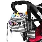 Zooawa Universal Baby Stroller Diaper Bag Storage Organizer con Multi-bolsillos
