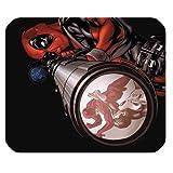 leonardcustom- Personalisierte Rechteck rutschfeste Gummi Mauspad Gaming Maus Pad/Badvorleger Marvel Superheld Deadpool–lcmpv141