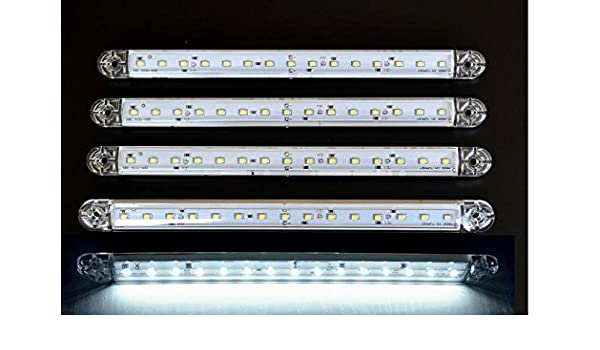 10/pezzi 24/V 12/LED bianco anteriore laterale Outline Marker Lights per camion rimorchio roulotte Chassis Bus ribaltabile