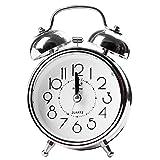 QIMEI-SHOP Sveglia,Sveglia a Doppia Campana Comodino con Luce Notturna Sveglia per Studenti Bambini Lavoratori Ufficio Viaggiatori, Batteria (Batteria Non Inclusa)
