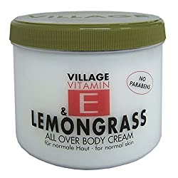 Village Cosmetics Vitamin E Body Cream, Lemongrass 500 ml