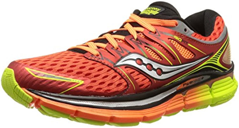 Saucony Triumph ISO - Zapatillas de Running Unisex, Color Rojo/Naranja/Amarillo