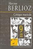 Critique musicale. Volume 9, 1856-1859 : 1823-1863 / Hector Berlioz ; [éd. critique préparée et annotée] par Anne Bongrain et Marie-Hélène Coudroy-Saghaï   Berlioz, Hector (1803-1869)  (auteur du texte)