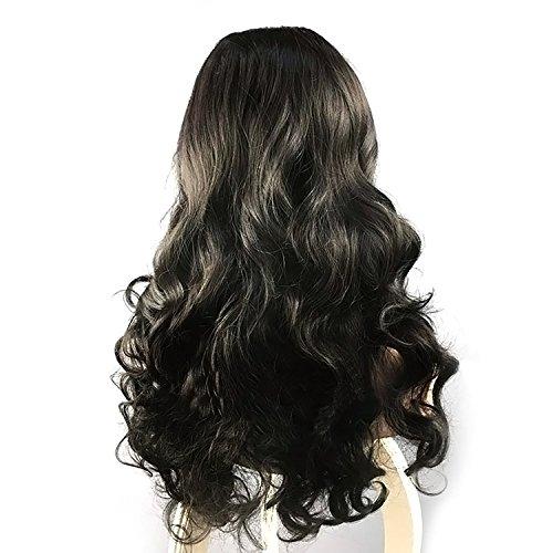 Sexy Lang Curley Perücke High Temperature Resistant Perücke schwarz Haare weiblich Lange Wellig lockiges (Curley Perücken)