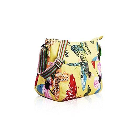 HB Style, Borsa bowling donna Multicolore Multicoloured Yellow