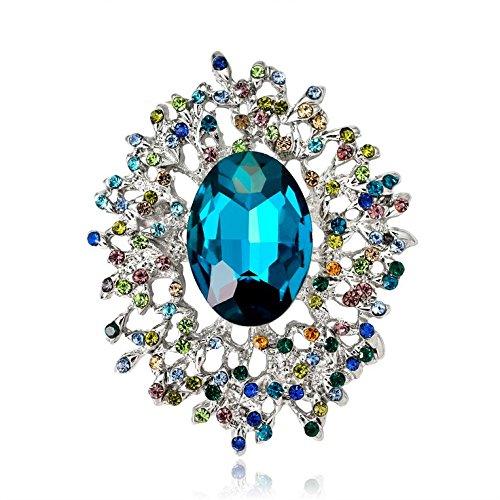 iamant Broschen Kleidung Dekoration Damen Kristall Anstecknadel für Verdeckt Schals Clip Hochzeit Brautschmuck Brosche Strass Size 3.4 * 4.1cm ()