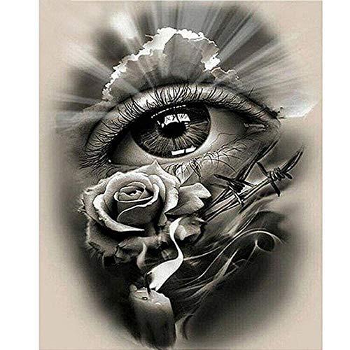 skwff 5d Diamant Painting Volle quadratische diamanten 5d DIY Diamant malerei abstrakte Rosen Augen kreuzstich wandaufkleber Strass Stickerei Handwerk