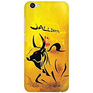 URBAN KOLOURS Original Designer Printed Hard Case Back Cover for Vivo V5 (Jallikattu)