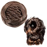 #10: Mansiyaorange Combo Of Two Korean New Premium Pre Styled Stylish Synthetic 4*7 Inch Two Tone Dark Brown And Golden Mix And Natural Dark Brown Designer Premium Look Party Wedding Wear Hair Judda /Bun/Hair Extention/Hair Cap/Artificial Hair Juda/Hair Clip For Girls And Women( Combo Of Two 4*4 Inch And 4*7 Inch Two Tone)