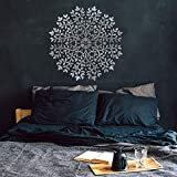 Kayra Decor Reusable Tree of Life Mandala DIY Wall Stencil Painting for Home Decor (PVC, 24 inch x 40 inch)