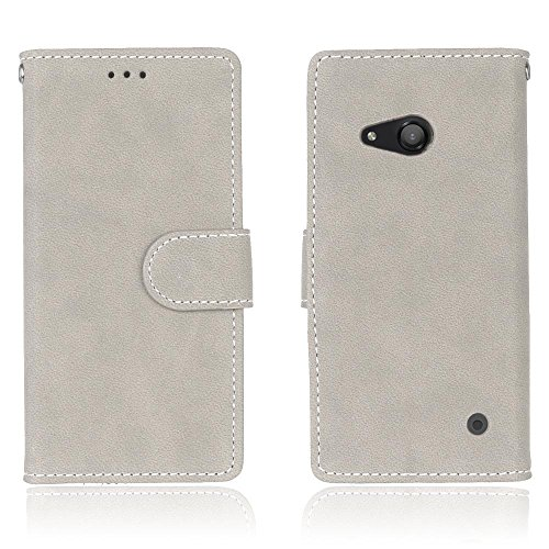 Solid Color Premium PU-Leder Tasche Cover matt Retro Flip-Ständer Case Wallet Fall mit Kartensteckplätze Photo Frames für Nokia Microsoft Lumia 550 ( Color : 1 , Size : Nokia Microsoft Lumia 550 ) 6