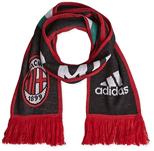 adidas AC Milan 3 Stripes Echarpe Homme, Black/Running White/Victory Red S04, FR Unique (Taille Fabricant : OSFM)