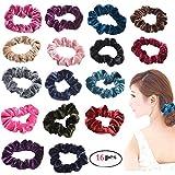 Haichen 16PCS/set donne moda Velvet Hair Scrunchies Hair Accessories party elastica Ponytail Hairband