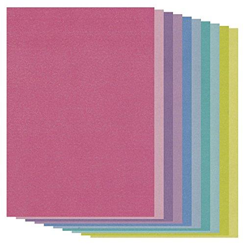Pergamentpapier, A4, verschiedene Farben, 20 Stück