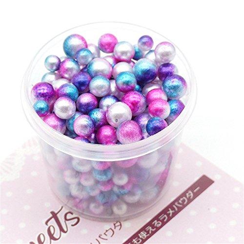 holitie 200PCRainbow Bunte Perlen Dekorative Schleim Perlen DIY Handwerk Für Crunchy Slime