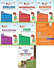 Olympiad Champs Science, Mathematics, English, Logical Reasoning, Cyber & GK Class 1 with 28 Mock Tests (S