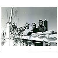 Vintage photo of people Hanging out at the Ship Deck.1964