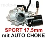 Unbranded Sport VERGASER 17,5mm + E-Choke für ADLY Quad ATV 50 CCM Luft 2 TAKT