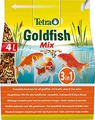 Tetra Pond Gold Mix, Complete Fish Food Mix for All Goldfish, 4 Litre