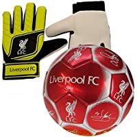 Nuskin Liverpool Size 5 Signature Football and Goalkeeper Gloves Combo