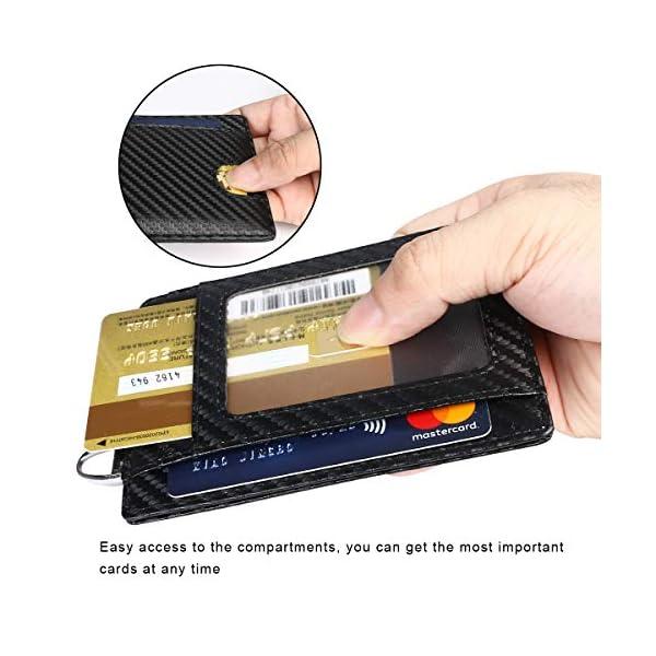 flintronic Portia Carte di Credito e Tasche Pelle, RFID/NFC Blocco Portafoglo, (1 Scomparto Con Cerniera, 6 Slot Per… 10 spesavip