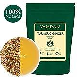 VAHDAM, Foglia Di Tè Allo Zenzero Curcuma Allo Zenzero | 200 g (100 tazze) | India's Wonder Spice | Miscela di tè alla curcuma e tè allo zenzero | tisana zenzero | infusi e tisane Dall'India