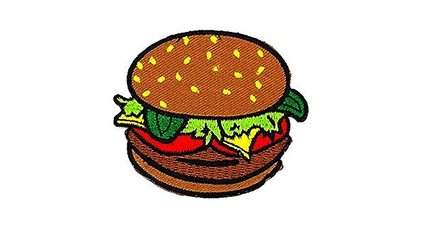 Petit Ours Shop Correctifs De Dessin Anime Telephone Hamburger Burger Fastfood Nourriture Dessin Anime Enfants Patch Main Brodee Thermocollant Et Coudre Symbole Veste T Shirt Patches Applique Accessoires Amazon Fr Cuisine Maison