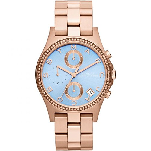 Marc Jacobs Henry Ladies Rose Gold Rose Gold Ionplated Chronograph Watch MBM3299