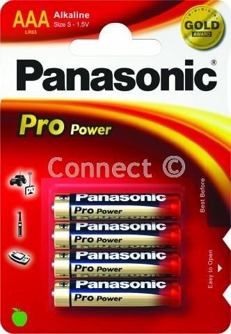 Panasonic Panasonic AAA Alkali batteriesAAA pro pro Leistung Größe alkaline Batterien LR03 MN2400 R03P SUM4 LR3 HP16 AM4 4003 E92 824 K3A - Verbrauchsartikel Panasonic Clock