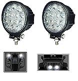 #5: Andride Circle 14 LED 42 Watt Bike Auxillary CREE Fog Lamp Light Flood Light Bulb Offroad Motorcycle LED (Set Of 2)
