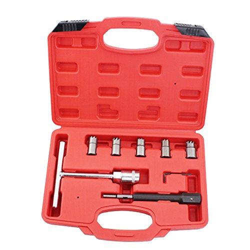 Profi 7PC Dieselinjektor Sitz Cutter für Reinigungsmittel-Werkzeug-Set