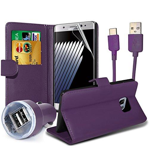 FONETIC Lösungen ® Google Pixel XL stoßfest Flip Carbon Gel Fällen Bezüge mit Premium Qualität Crystal Clear LCD Displayschutzfolie Guard 4-in-1 Value pack (Purple)