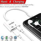 turelar 2 in 1 Adapter für iPhone 8/8 Plus, 7/7Plus iPhone X, doppelt Kopfhörer Aux Audio Charge Adapter