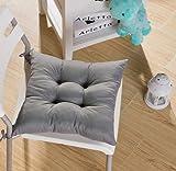 Tia-Ve Soft Stuhlkissen Sitzauflage für Küche Esszimmer Stuhl 40x40x8cm Dunkelviolett Grigio grau