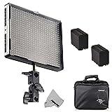 Fomito® Aputure Amaran AL-528W CRI95 + Weitwinkel-Led-Videoblende-Led-Studio-Lichtinstallationssatz mit 2 x F970 Li-Ion-Batterien
