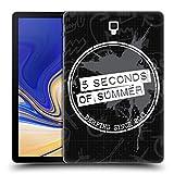 Head Case Designs Offizielle 5 Seconds of Summer Spritzer Derp Gemalte Symbole Ruckseite Hülle für Samsung Galaxy Tab S4 10.5 (2018)