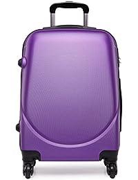 Maleta pequeña para equipaje de cabina con 4ruedas y exterior rígido de plástico ABS, ligera, 50 cm aproximadamente