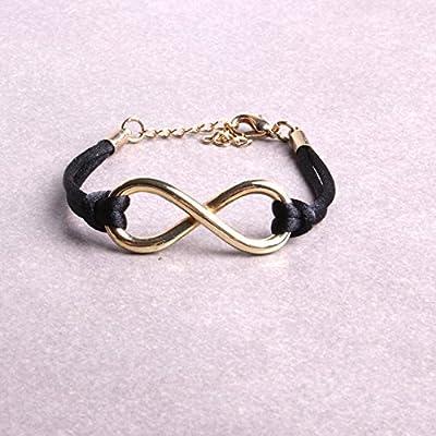 Bracelet infini femmes enfants cordon et fermoir mousqueton réglable bijou personnalisé fait à la main atelier By Mode France.